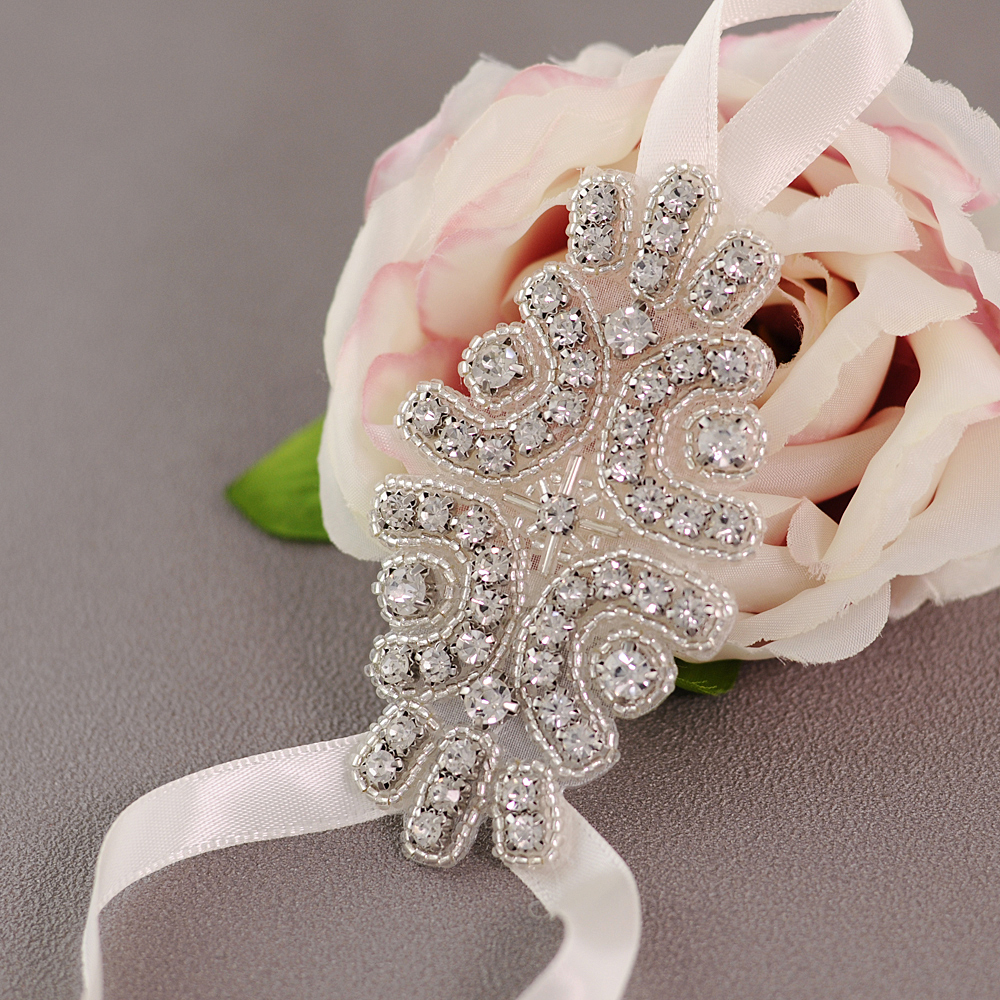 TOPQUEEN S03 Wedding Belts Rhinestones Belt Slive Crystal Belt Bright Diamond Belt Outside Decoration Belt Belt Rhinestone Kids