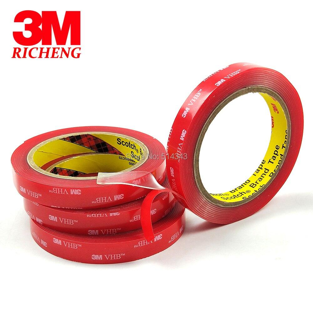 1 rouleau 12 MM x 3 M mètres clair 3 M VHB 4910 résistant Double face adhésif mousse acrylique livraison gratuite