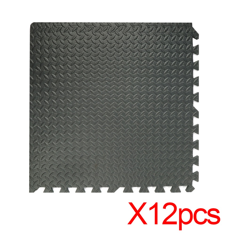 12pcs Interlocking Eva Foam Mats Tiles Gym Shock Absorbing Waterproof Comfortable Interlocking Flooring Mats Toiletry Kits 2019