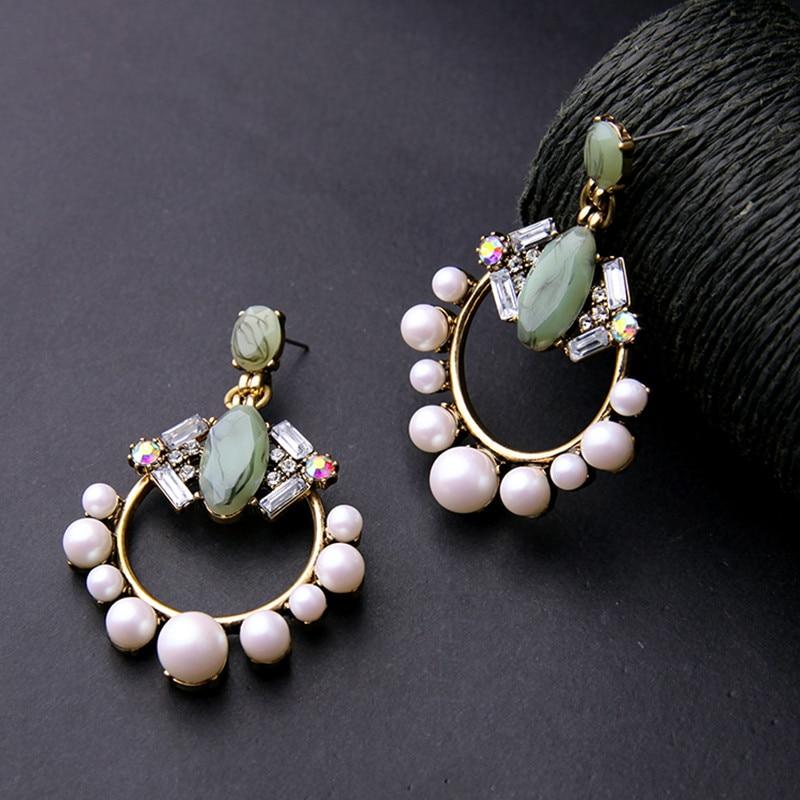 755133a85597 MAIKALE nueva moda ronda CZ Zirconia pendientes para las mujeres de oro  rosa bien joyería borla
