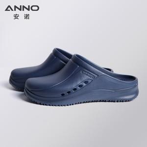 Image 4 - ANNO Soft Work Breathable Shoes for Women Men Light Nurse Clog Anti slip Slipper Flat Hospital Kitchen Beatuty Salon