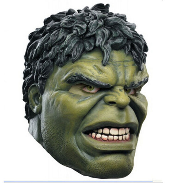 95b99b88e34 Adult The Avengers Hulk Head Rubber Mask Adult Cosplay Costume Show Full  Face Latex PARTY Mask