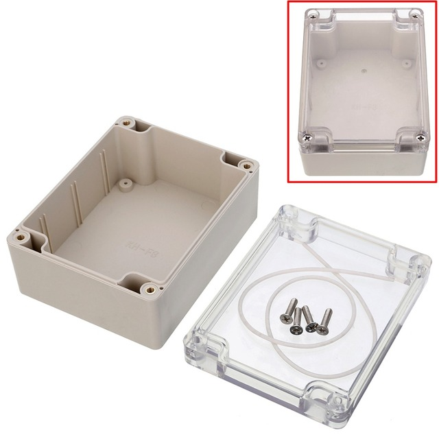 1 шт. Mayitr пластик DIY электронный проект приборная коробка прозрачная крышка водостойкий корпус 115 мм x 90 мм x 55 мм