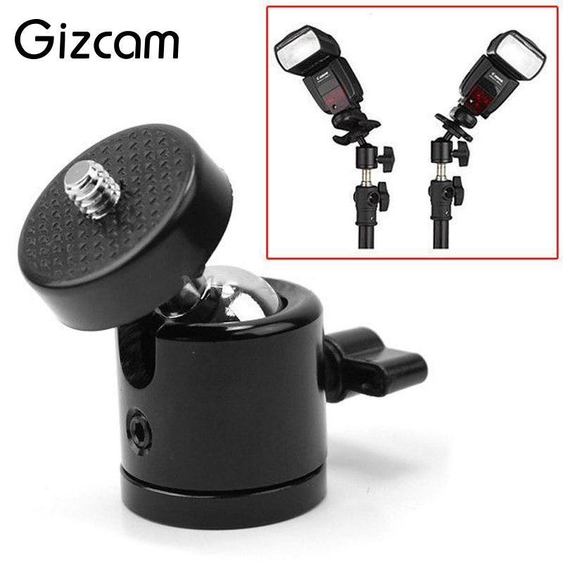 Gizcam 360 Degree Swivel Mini Ball Head DSLR DV Camera Mini Tripod Ballhead+1/4Screw Mount Stand DSLR Black