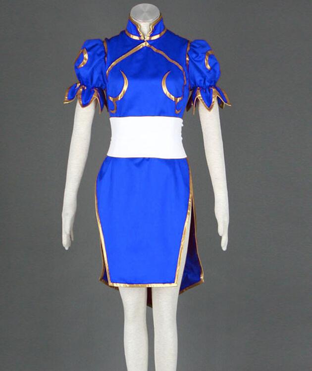 Street Fighter Halloween Costumes ken costume New Anime Street Fighter Cosplay Blue Costumes Any Size Hot Sale Halloween Costumes For Women Mr0115
