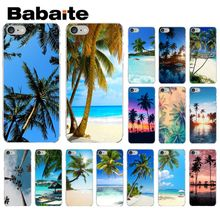 Babaite Summer Beach Scene on sea Palm Tree Drawing Phone Case cover Shell for iPhone X XS MAX  6 6s 7 7plus 8 8Plus 5 5S SE XR