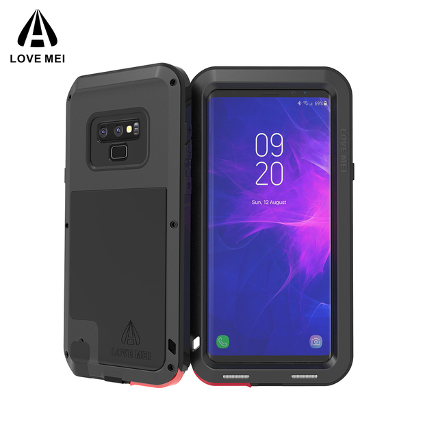 official photos 54309 10eb0 US $56.0 |Love Mei Heavy Duty Case For Samsung Galaxy Note 9 Doom Armor  Metal Case Shockproof Cover For Samsung Galaxy Note 9-in Phone Pouch from  ...
