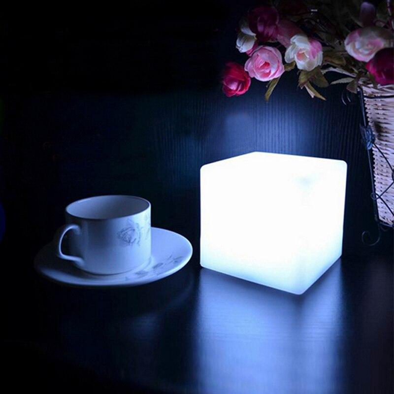LED colorida cambiante estado de ánimo cubos noche resplandor lámpara Gadget de luz Gizmo decoración del hogar iluminación romántica 7 colores Luces colgantes nórdicas modernas colgantes de cristal E27 E26 LED para cocina restaurante Bar sala de estar dormitorio
