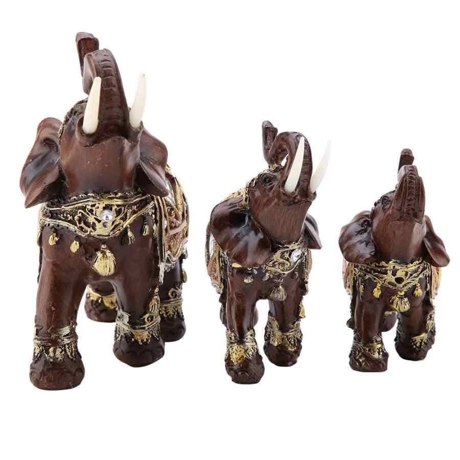 Keberuntungan Feng Shui Kayu Butir Gajah Patung Patung Kekayaan Patung Hadiah Dekorasi Rumah