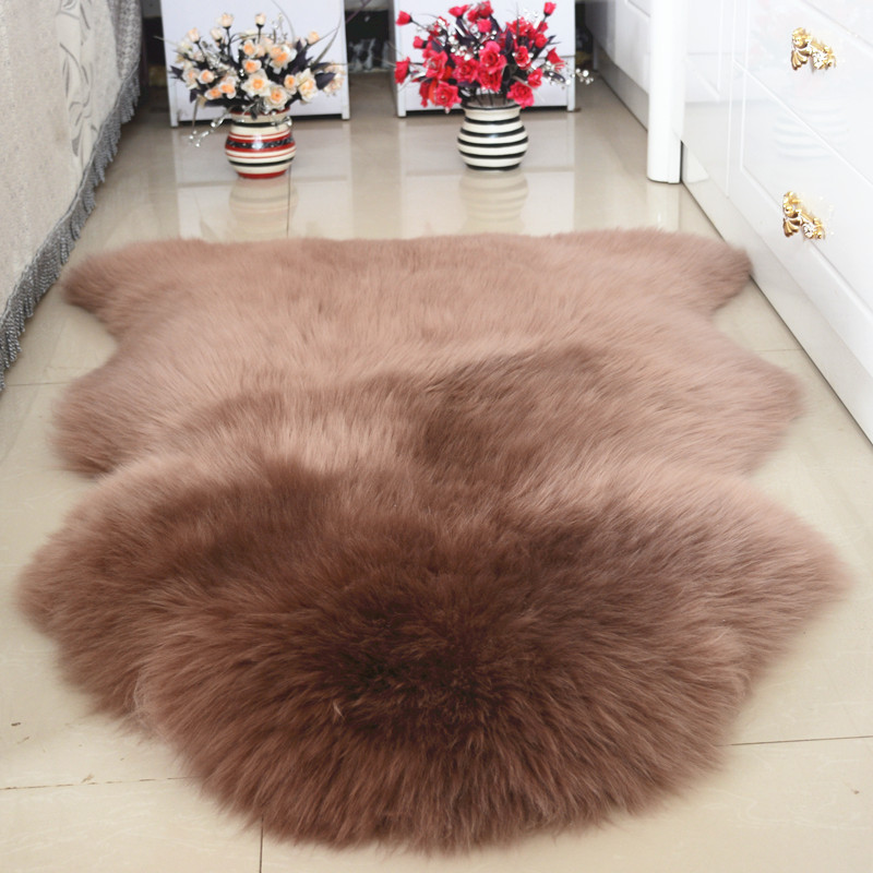 Super Luxury Keep Warm Thicken Soft Shaggy 100% Real Sheepskin Wool Area Rugs And Carpet For Living Room Chair Cover Home Mats