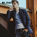 OLRIK 2016 Long Version Men's Clothing Winter Overcoats Jackets Coats Parkas M-4XL Size Regular Brand New Men Cotton Down Coat