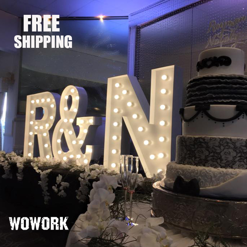 waterproof led giant letters wedding love metal stage decoration for hire party birthday event big marquee letter channel light in holiday lighting from