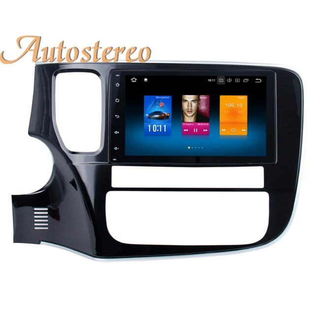 US $316 56 11% OFF|Android 8 Car GPS navigation Car DVD player For  Mitsubishi OUTLANDER 2014 2015 2016 2017 multimedia SatNAV head unit Eight  core -in