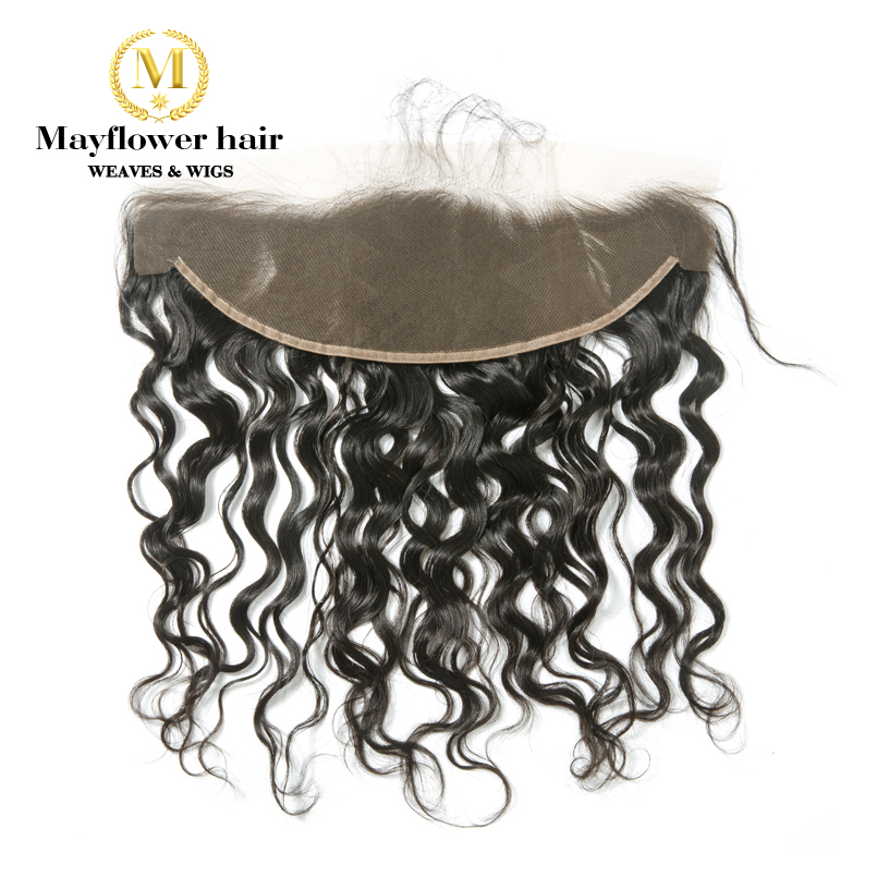 MFH Virgin Malaysian Water Wave Hair 13x4 Lace Frontal Closure Ear To Ear Free Parting 10