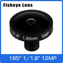 4K 렌즈 12 메가 픽셀 Fisheye 1/1.7 인치 185 학위 M12 마운트 렌즈 1.85mm IMX226 센서 울트라 4K 카메라 무료 배송