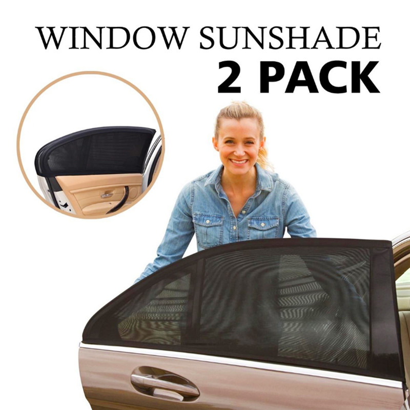 2pcs Detachable Car Side Window Curtain Sunshade UV Shield Auto Cars Curtains Flexible C ...