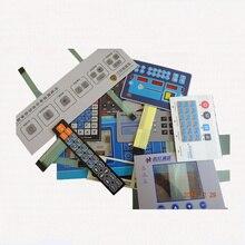 Пользовательский мембранный переключатель клавиатуры с ЖК-окном/светодиодный водонепроницаемый мембранный переключатель полиэстер ПЭТ ПК ПВХ панель Переключатель