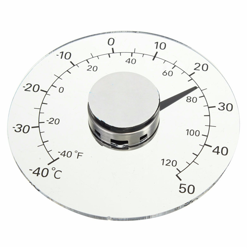 Thermometer Fahrenheit /Celsius Degrees Transparent Round Outdoor Window Self Adhesive Waterproof Temperature Meter dc12v 24v digital meter 20 100 degrees celsius thermometer dual display temperature meter for car water air indoor outdoor etc