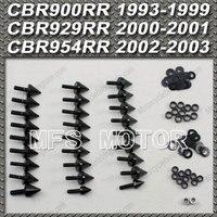 Black For Honda CBR 900RR 929RR 954RR Motorcycle Fairing Bolts kit Aluminum Spike CBR 929 RR CBR 954 RR