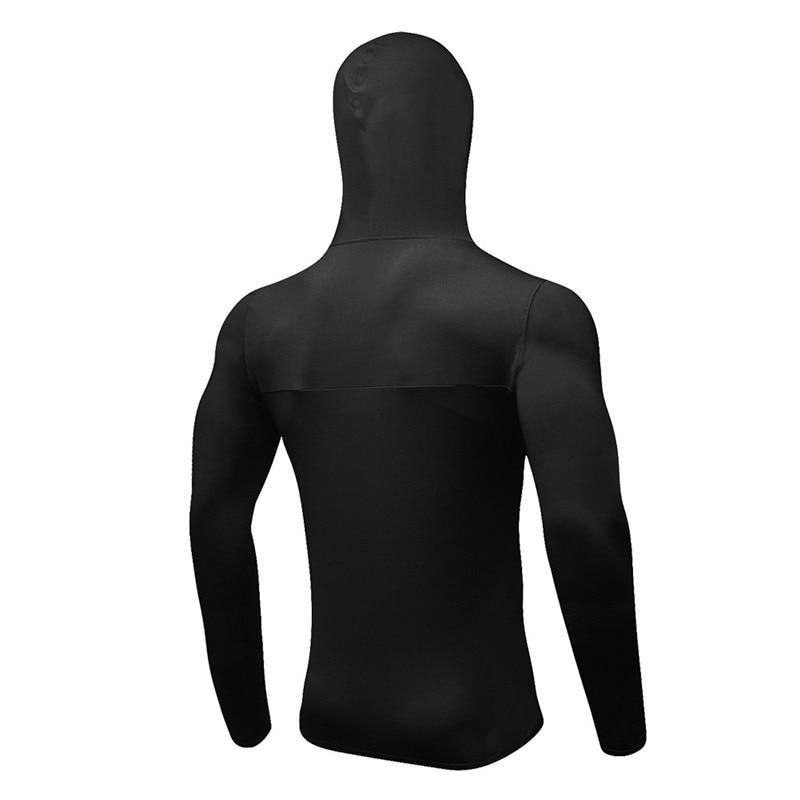 Long Sleeve Sport Shirt Men Hat+Zipper Womens Running T-shirts Gym Sports Clothing Sport Top Mens Sportswear