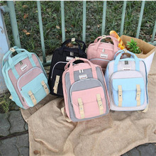 Backpack female Korean version of Harajuku high school students trend campus wind wild simple backpack bag female korean version of the simple art of retro wild small fresh couple college wind female students watch female girlfriends a pair