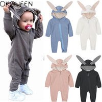 Newborn Infant Baby Boy Girl Kid Warm Romper Jumpsuit Bodysuit Clothes Outfits