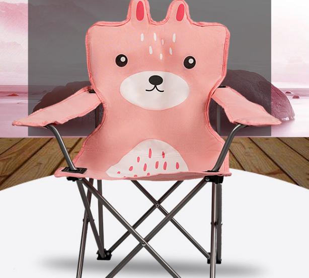 Dessin animé en plein air mignon Art croquis chaise Simple Portable pliant en plein air chaise de Camping mode créative plage Barbecue chaise Q377