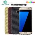 Nillkin Синтетического Волокна Сотовый Телефон Случае для Samsung Galaxy S7 5.1 ''S7 Edge 5.5'' Жесткий Углеродного Волокна PP Пластика Задняя Крышка Крышка