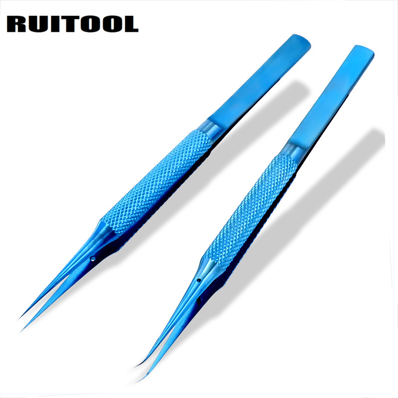 1pc tweezers electronic Titanium Alloy 0.15mm Tip Precision Tweezer Thicken For Electronic Repair Fly Line Phone Motherboard цена