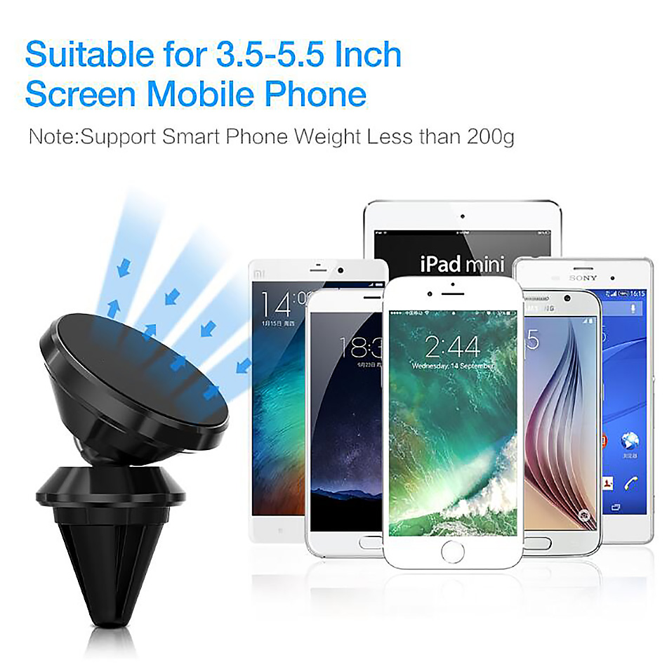Magnetic Phone Holder Universal For iPhone X Samsung S8 S9 Two Style Air Vent Dash Board Magnet Movil Phone Stand Soporte in Car in Phone Holders Stands from Cellphones Telecommunications