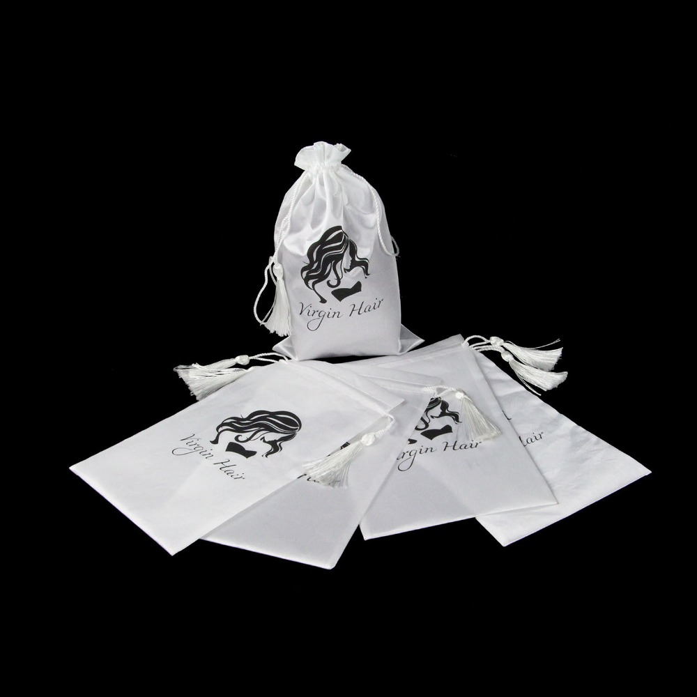 5 stuks witte maagd haar verpakking zak met koord, haarverlenging - Home opslag en organisatie - Foto 1