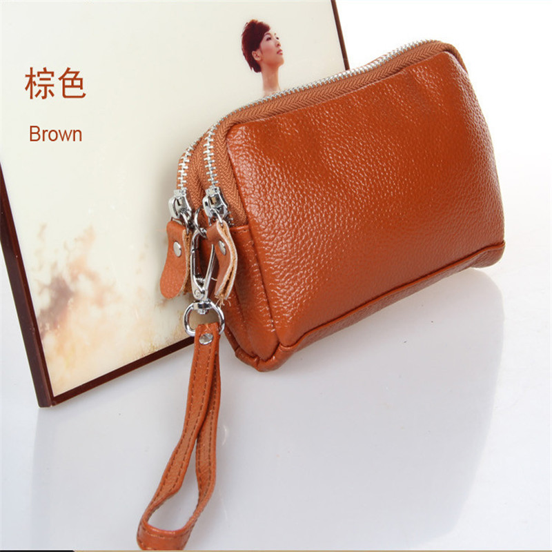 Women Men Card Holder Wallet Coin Purse Clutch Zipper Leather Small Change Bag  Free Shipping