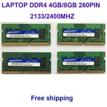 Kembona Laptop DDR4 4GB 8GB 4G 8G RAM Memory 2133mhz 2400mhz Memoria 260-pin SODIMM RAM Stick
