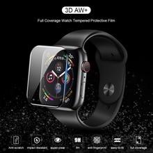 NILLKIN 3D AW + フル Coverag 強化ガラスフィルム Apple の腕時計 4 40 ミリメートル 44 ミリメートル保護ガラスフィルム時計 1 2 3 38 ミリメートル 42 ミリメートル
