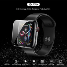 NILLKIN 3D AW+ Full Coverag Tempered Glass Film For Apple Watch 4 40mm 44mm Protective Glass Film For Watch 1 2 3 38mm 42mm
