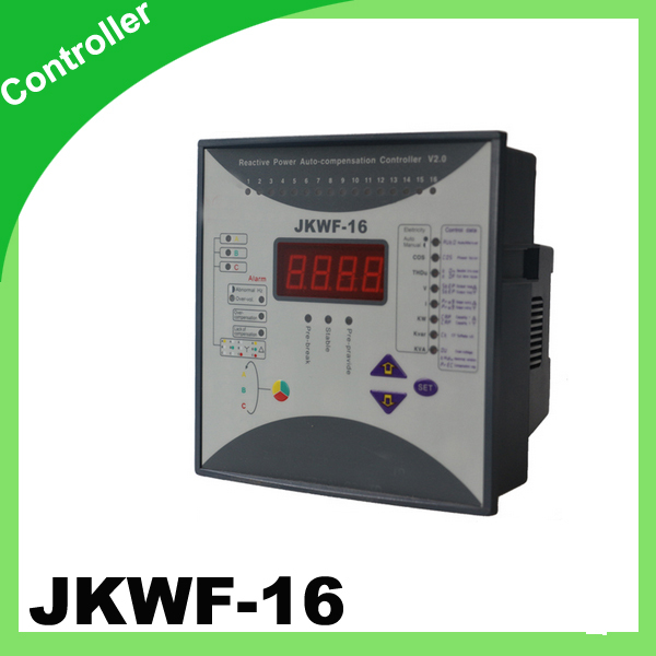 Split Phase Power Factor Correction 16step Jkwf16 220v auto set show voltage current power reactive power net frequency таймер show more 220v 10a kg01