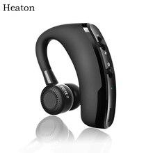 Беспроводная Bluetooth гарнитура Heaton, наушники HD, стерео с микрофоном, голосовое управление, гарнитура, наушники для телефона, ПК, офиса