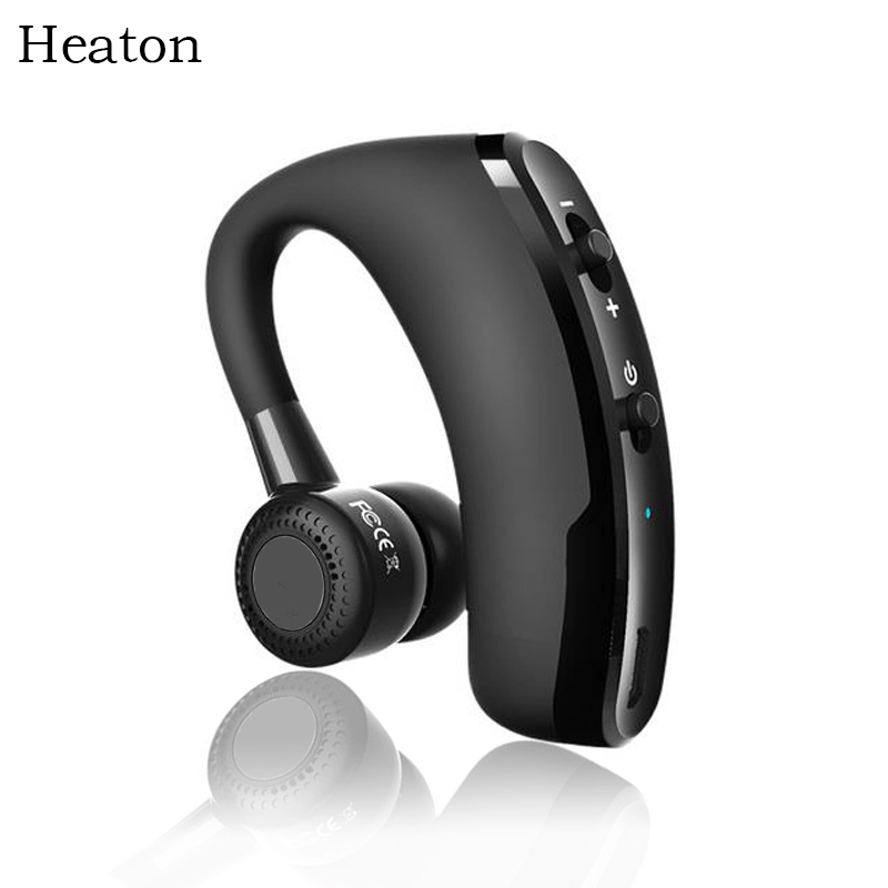 Heaton Wireless Bluetooth Headset Headphone HD Stereo With Mic Voice Control Handsfree Earphone Headphones For Phone PC Office bq 618 wireless bluetooth v4 1 edr headset support handsfree earphone with intelligent voice navigation for cellphones tablet