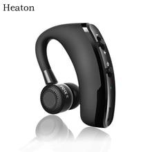 Heaton Wireless Bluetooth Headset Headphone HD Stereo With Mic Voice Control Handsfree Earphone Headphones For Phone PC Office