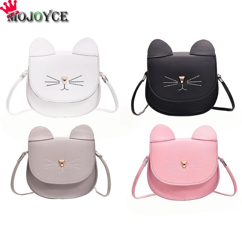цены 2018 New PU Leather Crossbody Bag Cute Women Cat Shape Messenger Bag Fashion Flap Shoulder Bags Mini Lovely Messenger Handbags