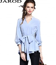 Elegant Women Solid Chiffon Blouse 2017 New Fashion European Style Lantern Sleeve Office Work Shirt Casual Tops Loose Blusas