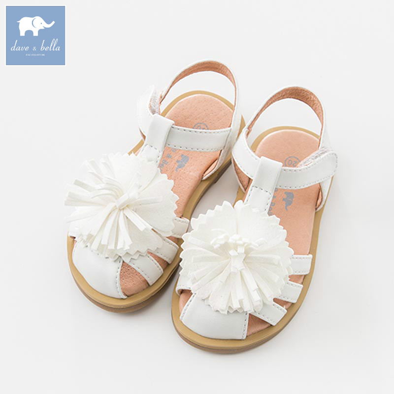 DB6761 Dave Bella summer baby girl sandal Princess Shoes brand shoes db6743 dave bella spring summer baby girl canvas shoes floral casual shoes