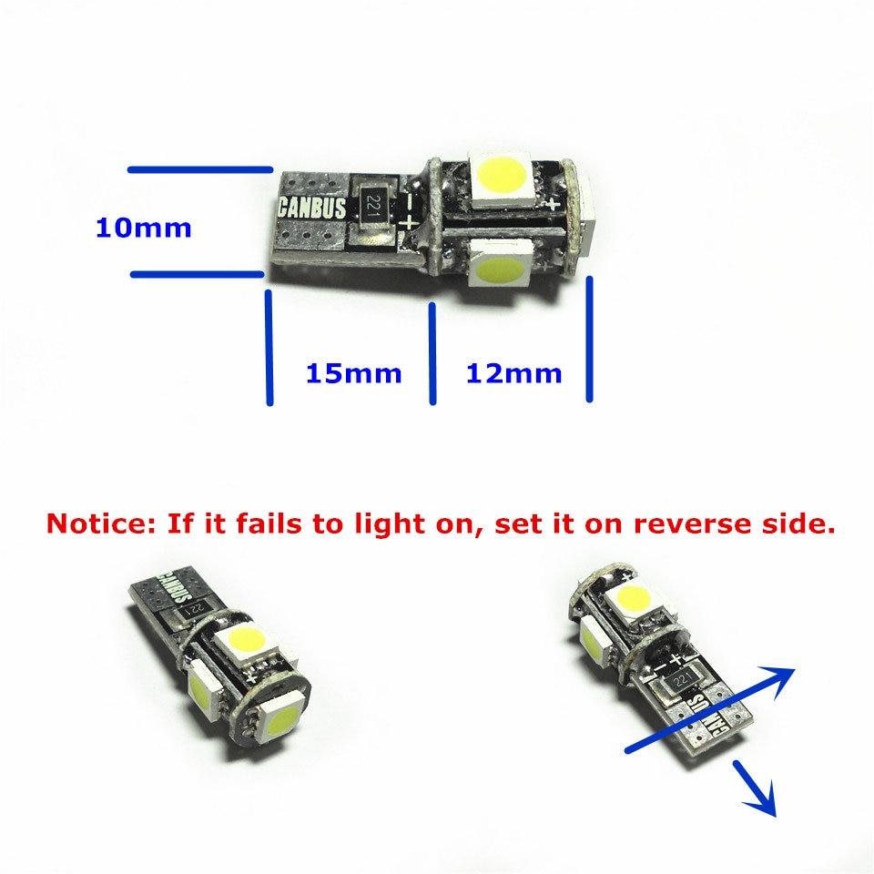 12V CANBUS dekodirajuća LED žarulja automobila 1pair T10 (5 * 5050 - Svjetla automobila - Foto 2