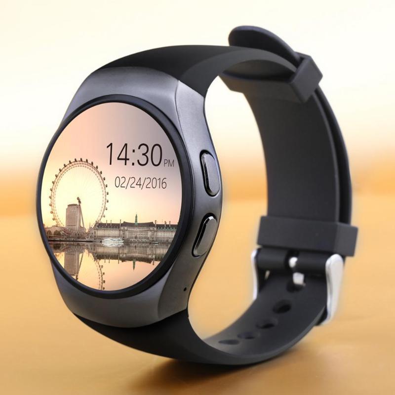 KW18 Bluetooth montre intelligente plein écran prise en charge SIM TF carte Smartwatch téléphone fréquence cardiaque pour iOS Android
