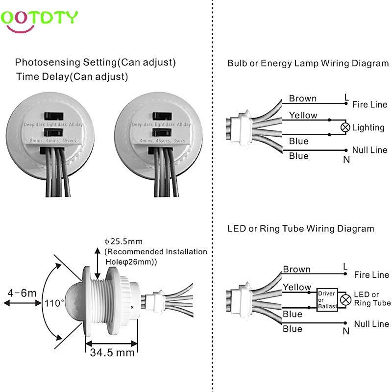 Motion Sensor Switch Wiring Diagram - Wiring Diagrams