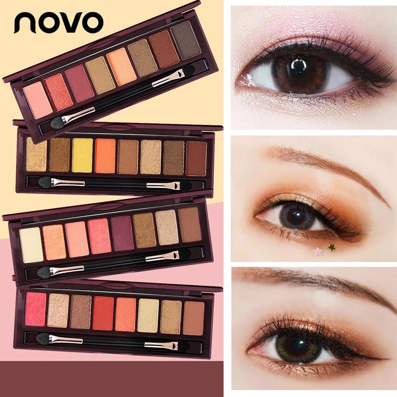 NOVO fashion 12colors matte eyeshadow Palette Glitter