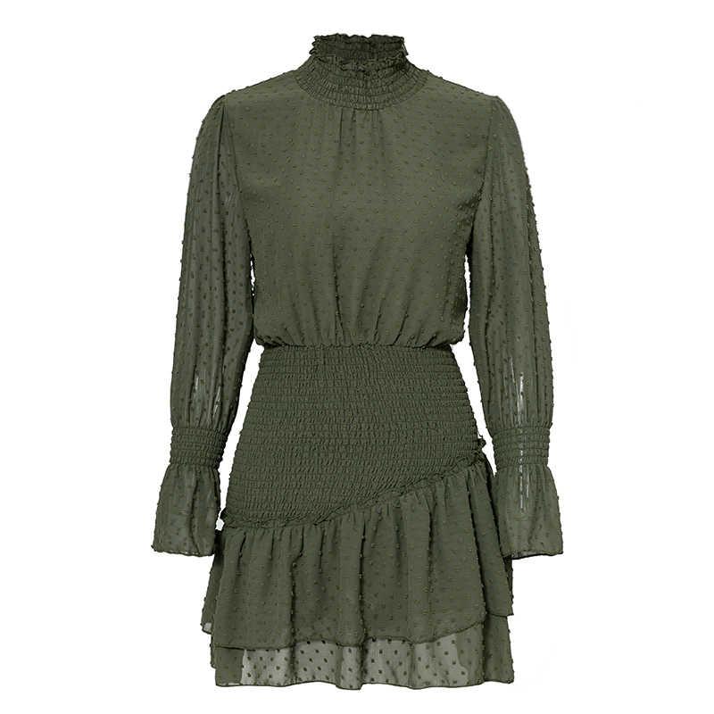 Элегантные зимние платья в горошек для женщин; элегантные Повседневные Вечерние платья в стиле ретро; женские короткие платья с эластичной резинкой на талии; женское платье; Vestido
