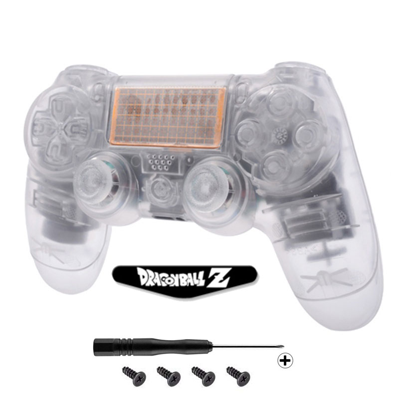 Transparent Matte Full Housing Gamepad Shell Case MOD Kit for PS4 Playstation 4 DUALSHOCK4 JDM-001 JDM-011 Wireless Controller