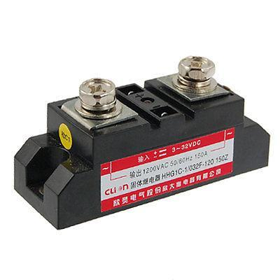 DC to AC Single Phase Solid State Relay SSR 150A 3-32V DC 1200V AC dc ac single phase ssr solid state relay 120a 3 32v dc 24 480v ac