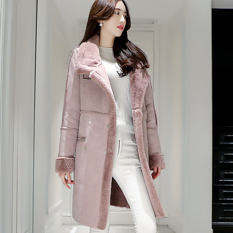 Épaississement Femelle Lj181 Grande Imitation Rose Nouvelle Veste L'ukraine Daim Haute Taille Large argent 2017 Femmes Chaud Top D'hiver Manteau OgfZ1a